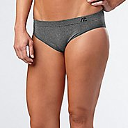 Womens R-Gear Undercover Seamless Hipster Bikini Underwear Bottoms - Heather Charcoal S