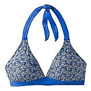 Womens Prana Lahari D-cup Halter Bra  Swim - Blue Seashells