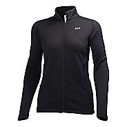 Womens Helly Hansen Vertex Fullzip Stretch Midlayer Lightweight Jackets - Black XL