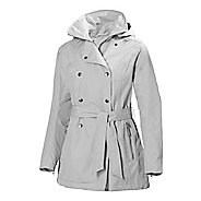Womens Helly Hansen Wesley Trench Rain Jackets - Ash S