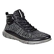 Womens Ecco Intrinsic 1 High Casual Shoe - Black/Concrete 9.5