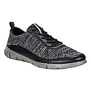 Womens Ecco Intrinsic Knit Casual Shoe - Black/Concrete 10.5