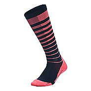 Womens 2XU Striped Run Compression Socks Injury Recovery