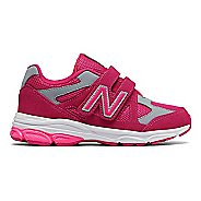 New Balance 888v1 Velcro Running Shoe - Pink/Grey 3Y