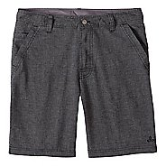 Mens prAna Furrow Short 8 Inseam Unlined Shorts - Black Herringbone 36