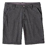 Mens prAna Furrow Short 8 Inseam Unlined Shorts - Black Herringbone 38