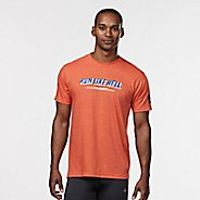 Mens R-Gear Run Like Hell Graphic Tee Short Sleeve Technical Tops - Heather Orange S