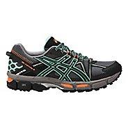 Womens ASICS GEL-Kahana 8 Trail Running Shoe - Black/Mint/Orange 10.5