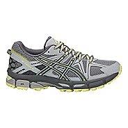 Womens ASICS GEL-Kahana 8 Trail Running Shoe - Grey/Carbon/Lime 6.5