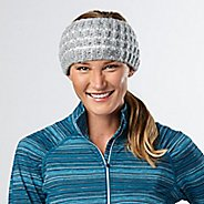 Womens R-Gear Knit Ready Ear Warmer Headwear - Dove Grey/White
