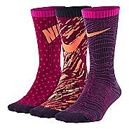 Nike Kids Graphic Lightweight Cotton Crew 3 pack Socks - Multi M