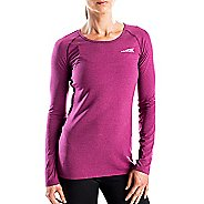 Womens Altra Running Tee Long Sleeve Technical Tops - Magenta S