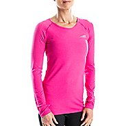 Womens Altra Running Tee Long Sleeve Technical Tops - Beetroot L