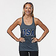 Womens R-Gear USA Graphic Sleeveless & Tank Technical Tops - Heather Charcoal M