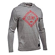 Mens Under Armour Cassius Clay Triblend Hoodie & Sweatshirts Technical Tops - Greyhound Heather L