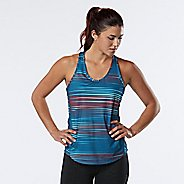 Womens R-Gear Fast and Fab Printed Singlet Sleeveless & Tank Technical Tops - Marina Stripe XS