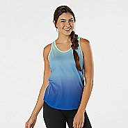 Womens R-Gear Fast and Fab Printed Singlet Sleeveless & Tank Technical Tops - Sapphire Ombre L