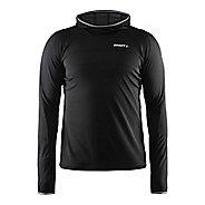 Mens Craft Escape Jersey Long Sleeve Technical Tops - Black L