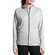 Womens Brooks Joyride Hoodie & Sweatshirts Technical Tops - Heather Oxford XXL