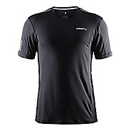 Mens Craft Focus Mesh Tee Short Sleeve Technical Tops - Black/Platinum XXL