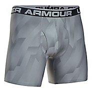 Mens Under Armour Original 6'' BoxerJock Print Boxer Brief Underwear Bottoms - Steel S
