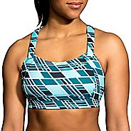 Womens Brooks Juno Sports Bra - Ocean Wave/Ocean 40C