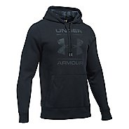Mens Under Armour Rival Graphic Hoodie & Sweatshirts Technical Tops - Black/Stealth Grey M
