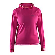 Womens Craft Escape Jersey Long Sleeve Technical Tops - Smoothie/Shine/Geo M