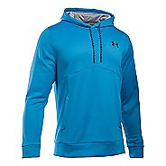 Mens Under Storm Armour Fleece Half-Zips & Hoodies Technical Tops - Brilliant Blue/Steel XXL-T