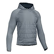 Mens Under Armour Swacket Insulated Popover Hoodie & Sweatshirts Technical Tops - Steel L