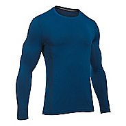 Mens Under Armour Elevated Seamless Tee Long Sleeve Technical Tops - Heron L