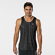 Mens Road Runner Sports Runners High Geometric Singlet Sleeveless & Tank Technical Tops - Black XXL