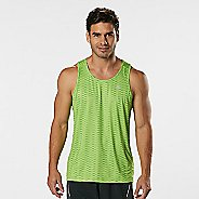 Mens Road Runner Sports Runners High Geometric Singlet Sleeveless & Tank Technical Tops