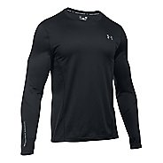 Mens Under Armour ColdGear Infrared Raid Fitted Long Sleeve Technical Tops - Black/Steel M