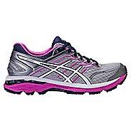 Womens ASICS GT-2000 5 Running Shoe - Grey/Pink 6.5