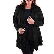 Katie K Freeflow Cardigan Long Sleeve Technical Tops - Black M