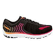 Womens Brooks PureFlow 6 Running Shoe - Black/Pink 5.5