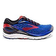 Mens Brooks Transcend 4 Running Shoe - Blue/Red 8.5