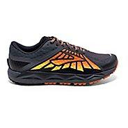 Mens Brooks Caldera Trail Running Shoe - Anthracite/Orange 10