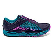 Womens Brooks Caldera Trail Running Shoe - Blue/Lime 8.5