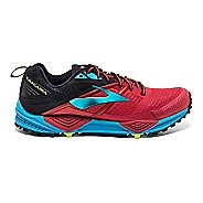 Mens Brooks Cascadia 12 Trail Running Shoe - High Risk Red/Black 8