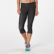 Womens R-Gear Recharge Compression Printed Capri Tights - Heather Black Stripe L