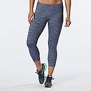 Womens R-Gear Leg Up Crop II Capris Tights - Heather Storm Blue XS
