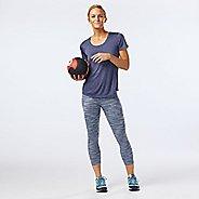 Womens R-Gear Leg Up Printed Crop II Capris Tights - Storm Blue/Grey Mist L