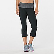 Womens Road Runner Sports Run, Walk, Play Capri 2 Pants - Black/Snake XL