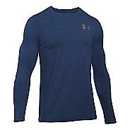 Mens Under Armour Vertical Wordmark T Long Sleeve Technical Tops - Midnight Navy XLR
