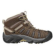 Womens Keen Voyageur Mid Hiking Shoe - Brindle/Custard 7.5
