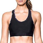 Womens Under Armour Mid Self Binding Sports Bras - Black/Purple L