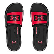 Mens Under Armour Ignite V SL Sandals Shoe - Black/Red 11