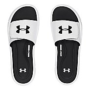 Mens Under Armour Ignite V SL Sandals Shoe - White/Black 11